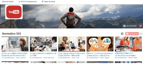 ¡Alcanzamos 50.000 visualizaciones de nuestros vídeos en el canal Ibermatica365 en Youtube!