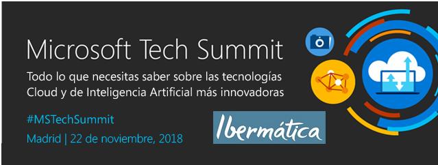 Imagen de la noticia [Evento] Ibermatica en el Microsoft Tech Summit Madrid