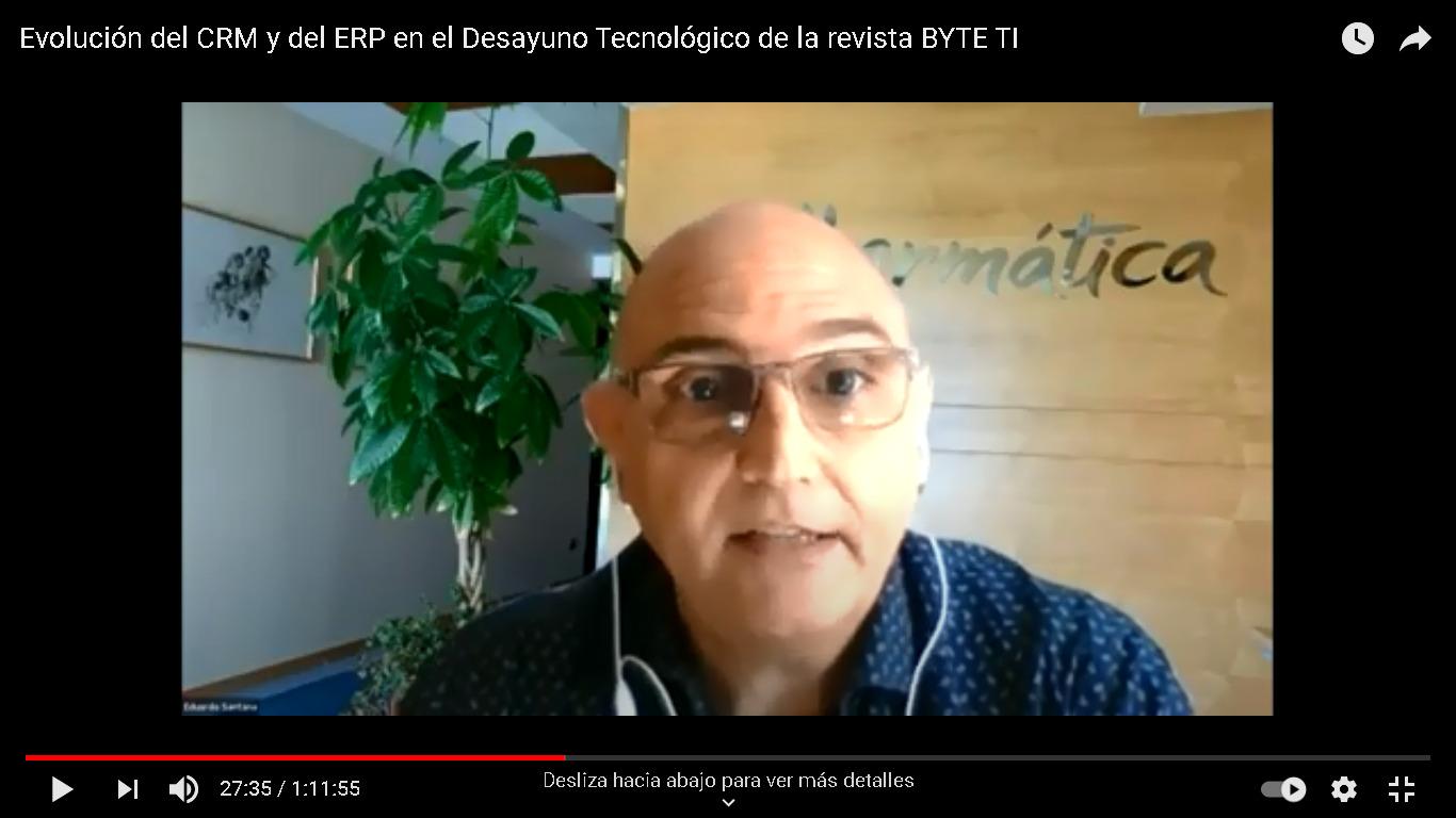Imagen de la noticia [VÍDEO] Evolución del  CRM y del ERP en el Desayuno Tec...